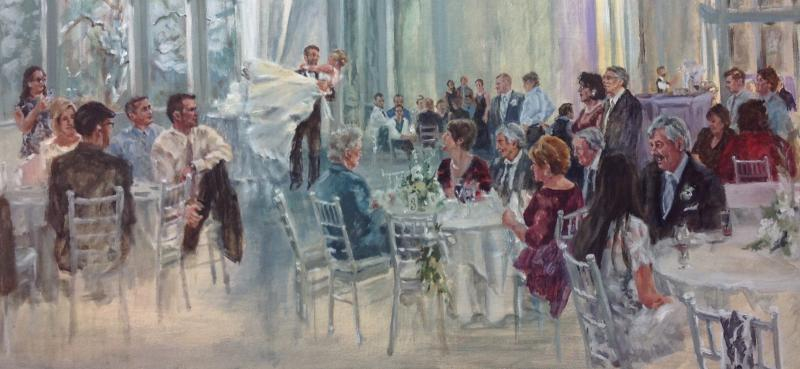 Wedding images painted at the day of the event