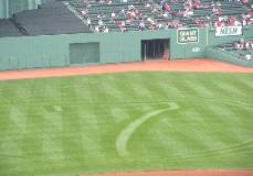 Fenway Park field in memory of Center Fielder who passed away on  5/8/2009