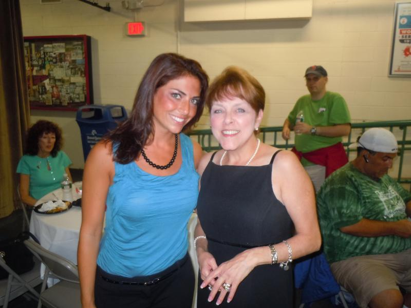 Me, with Jenny Dell, NESN's Boston Red Sox Reporter