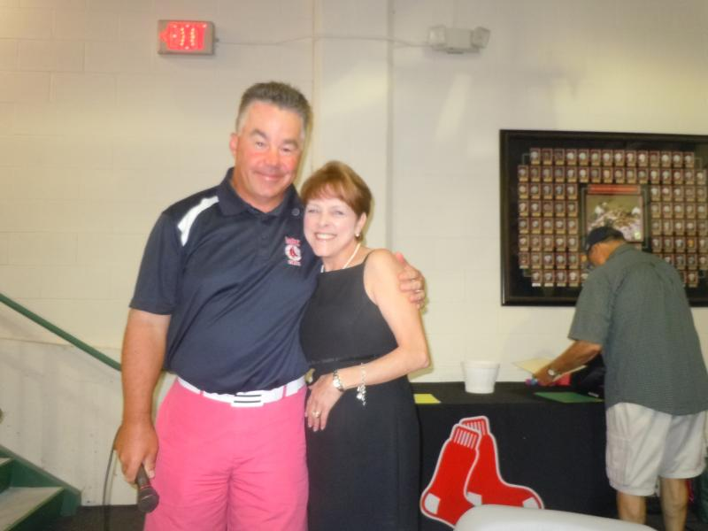 "Me, with Stephen Hollingsworth, Boston Red Sox ""BoSox Club"" President"