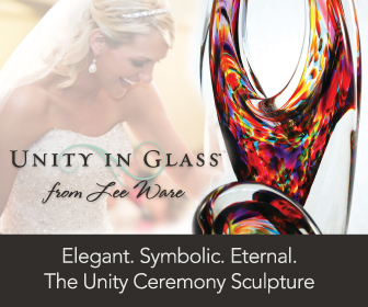 Unity in Glass has taken the unity ceremony to the next level of artistic expression. Glass! Not sand or a candle, for your wedding ceremony.